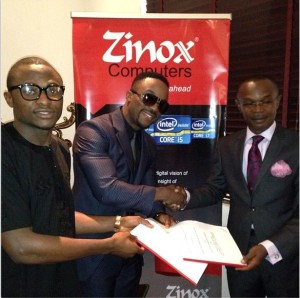 [PHOTO] Iyanya Seals N57.7million Endorsement Deal With Zinox Computers