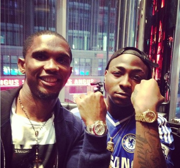 VIDEO: The Meeting Samuel Eto'o and Davido